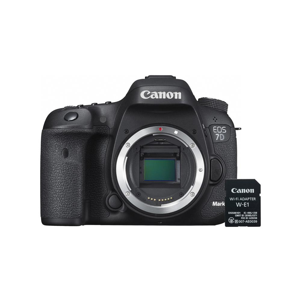 canon eos 7d mark ii body with w e1 wi fi adapter. Black Bedroom Furniture Sets. Home Design Ideas