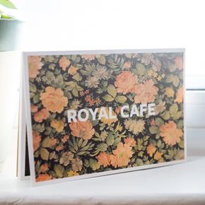 Royal Cafe Postcard Pack w/ Washi Tape