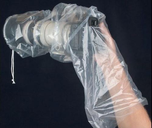 Op tech dslr rain sleeve 2 pack for Housse anti bruit reflex