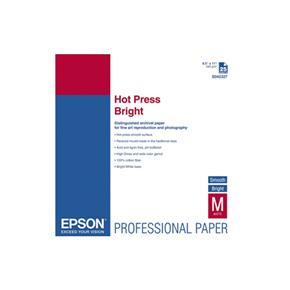 Epson 8.5x11 Hot Press Bright Smooth Matte - 25 Sheets