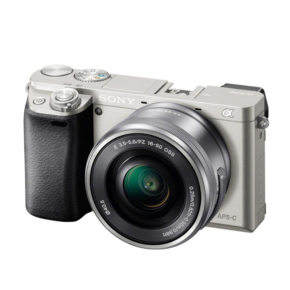sony camera white. a6000_with_16-50mmpz_silver.jpg sony camera white e