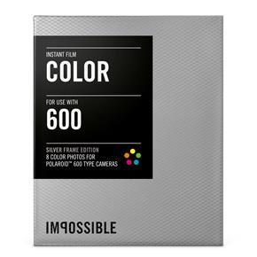 Impossible Project Colour Film for 600 with Silver Frame - 8 Exposures