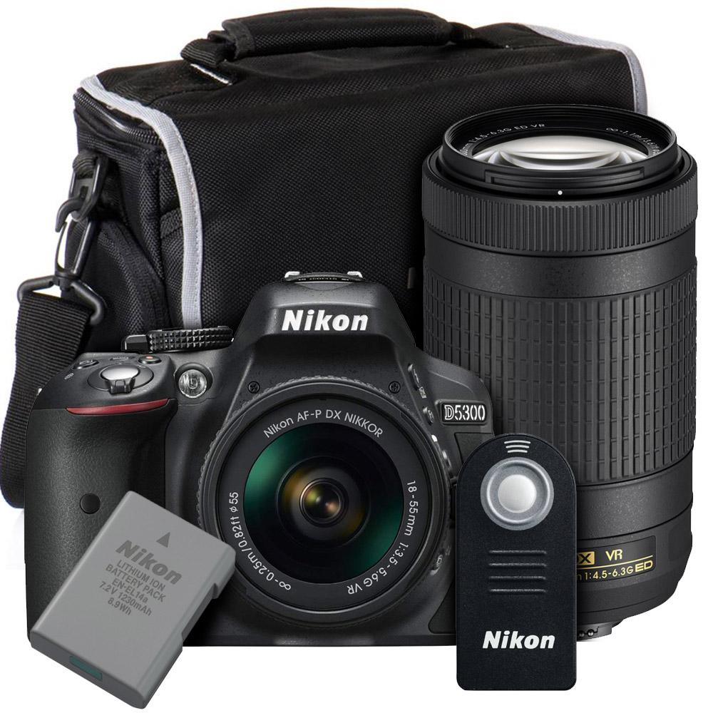 Nikon D5300 Af P Two Lens Bundle Kit 18 55mm Vr